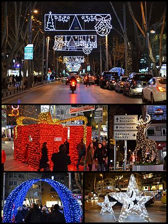 Istanbul Province - New Year's Eve decorations in Kadıköy