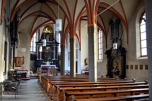 Kloster Kamp-Bornhofen, interieur Mariakerk