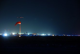Kandahar International Airport - Night view of the airport in 2007