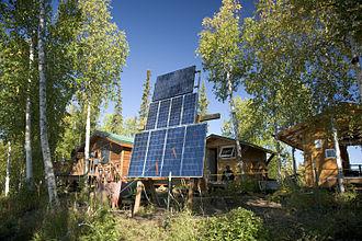 Solar power in Alaska - Solar panels in Kanuti National Wildlife Refuge