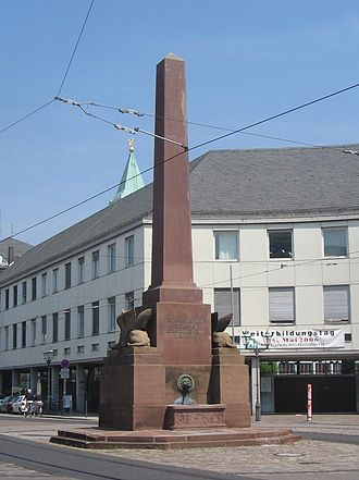 History of Baden-Württemberg - Monument to the Constitution of Baden (and the Grand Duke for granting it), in Rondellplatz, Karlsruhe, Germany
