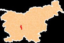 Vị trí của Brezovica ở Slovenia