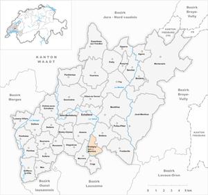Bretigny-sur-Morrens - Image: Karte Gemeinde Bretigny sur Morrens 2013
