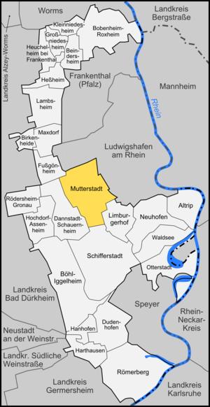 Mutterstadt - Image: Karte Mutterstadt