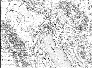 First Battle of Zurich - Map of Zürich, 1800