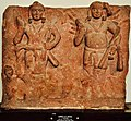 Karttikeya and Agni - Circa 1st Century CE - Katra Keshav Dev - ACCN 40-2883 - Government Museum - Mathura 2013-02-23 5717.JPG