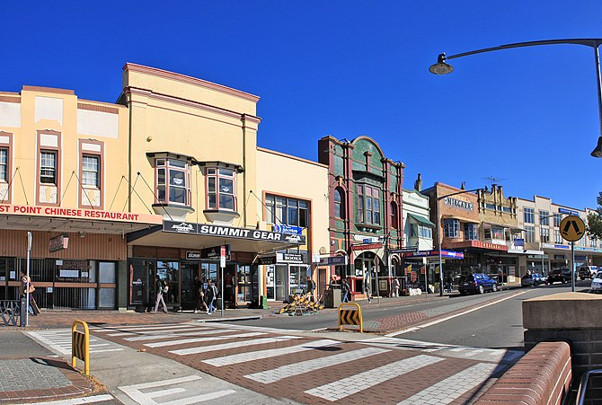 English: Katoomba in the Blue Mountains, New S...