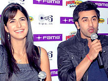 Ranbir Kapoor and Katrina Kaif are seen beside each other