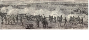 Battle of Kelly's Ford - An illustration of the battle from the 1863 Harpers