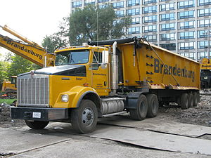 Kenworth - Kenworth T800W Tractor with End Dump Trailer
