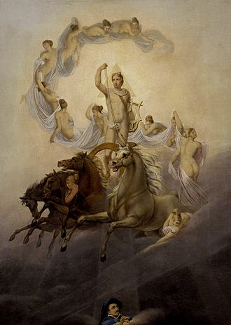 Horae - Apollo with the Hours by Georg Friedrich Kersting (1822)