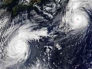 2003 Pacific typhoon season - Typhoons Ketsana and Parma on October 24
