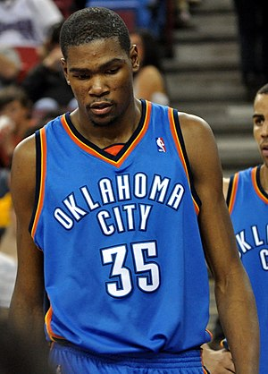 Kevin Durant of the Oklahoma City Thunders at ...