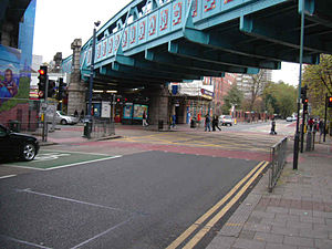 Edgware Road Tube schemes - The Edgware Road (pictured here at Shoot Up Hill, Kilburn) was traversed by the Metropolitan Railway and the LNWR, but plans were drawn up to drive a tube under the length of the road