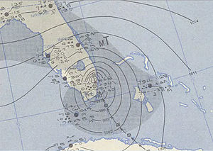 1950 Atlantic hurricane season - Image: King 1950 10 18 weather map