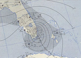 1950 Atlantic hurricane season - Image: King 1950 10 18 weather map