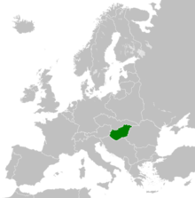 Description de l'image Kingdom of Hungary in Europe 1929.png.