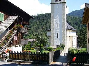 Lax, Switzerland - Church of Lax