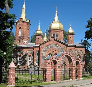 Mustvee - The Holy Trinity Unitarian Church in Mustvee.
