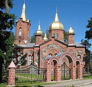 Mustvee Town in Estonia