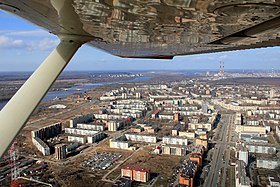 Kirishi,Russia as seen from Cessna 150L 2011 flight.jpg