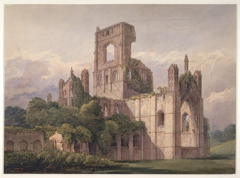 File:Kirkstall Abbey, Yorkshire by Charles Alban Buckler 1850.jpg