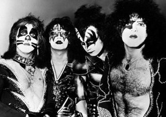 Slipknot (band) - American hard rock band Kiss (pictured in 1976) was among the band's influences