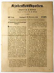 Kjøbenhavnsposten, 28 novembre 1838