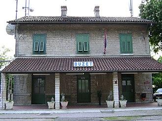 Buzet - Image: Kolodvor Buzet
