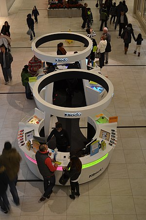 Koodo Mobile - A Koodo Mobile booth in Markville Shopping Centre.