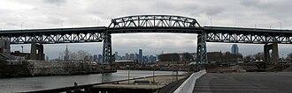 Kosciuszko Bridge (New York City) - The bridge as seen from upstream Queens side, 2008