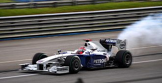2009 Malaysian Grand Prix - Robert Kubica retired on the second lap when his engine failed.