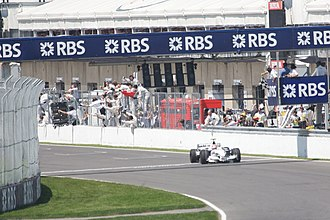 BMW in Formula One - Robert Kubica crosses the finish line to win the 2008 Canadian Grand Prix, the only Formula One race that BMW has won as a full works team.