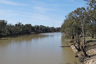 Wakool River - The Wakool River near Kyalite.