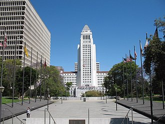 Metropolis (comics) - In the TV series Adventures of Superman, Los Angeles stood in place for Metropolis. The Los Angeles City Hall was depicted as the Daily Planet building in later seasons.