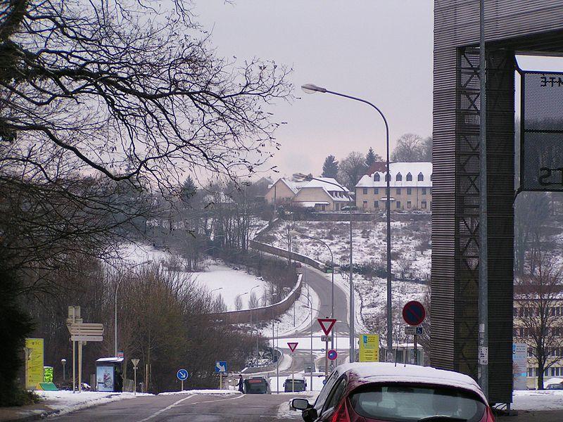 Le quartier de la Clairière à Besançon vu depuis La Bouloie (Doubs, France).