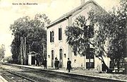 Early C20 picture of Mannouba railway station.