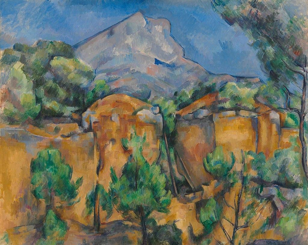 La Montagne Sainte-Victoire vue de la carrière Bibémus, par Paul Cézanne.jpg