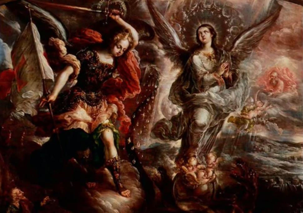 La Virgen del Apocalipsis - Cristóbal de Villalpando (Museo Bello y González, Ciudad de Puebla)