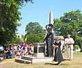 Lady minister Battle of LI speach at Minerva in G-W jeh.jpg