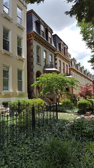 Lafayette Square, St. Louis - Second Empire-style Victorian townhouses line the streets of Lafayette Square.