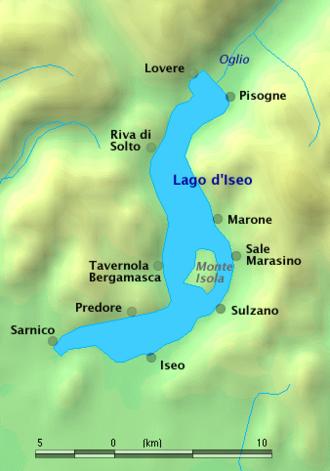 Lake Iseo -  map