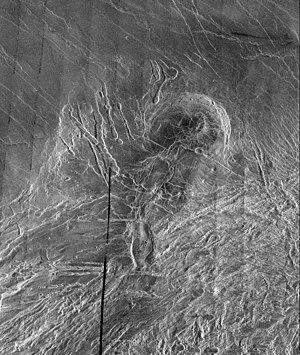 Lakshmi Planum - Image: Lakshmi Planum and Siddons Patera PIA00240