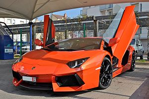 Scissor doors - The Lamborghini Aventador