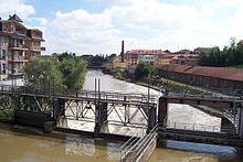 Il Lambro a Melegnano dal ponte di via Dezza