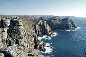 Aphex Twin - James grew up in Cornwall (pictured: the cliffs at Land's End)