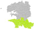 Landrévarzec (Finistère) dans son Arrondissement.png