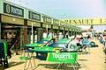 Larrousse pits at the 1994 British Grand Prix (32418605451).jpg