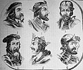 "Las Glorias Nacionales, 1852 ""Nº VI. De Reyes de España. 1. Egica 2. Witiza 3. Rodrigo 4. Pelayo 5. Favila 6. Alonso I y Ormesinda"". (4013185359).jpg"