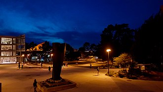 San Francisco State University - Campus quad at night